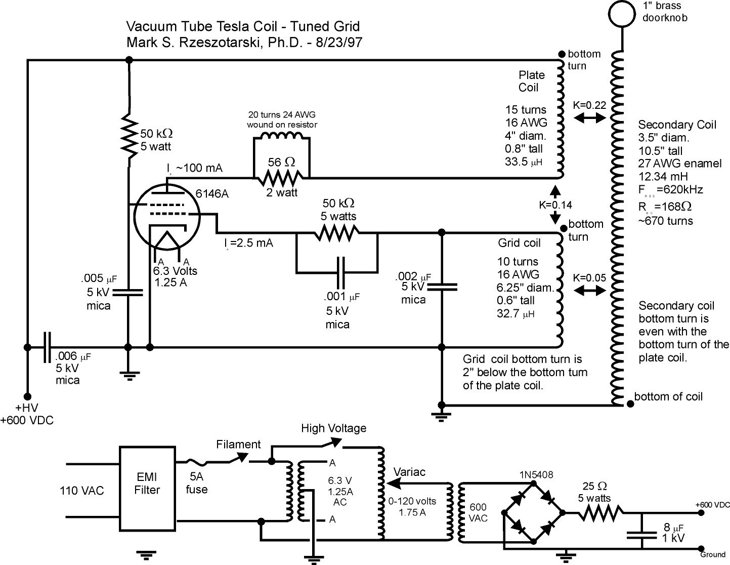 Additional information can be extracted from the original schematic (42 Kb)  or the ...